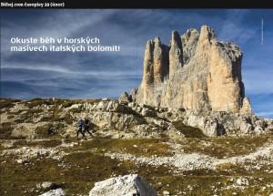 Dvoustrana v časopise Běhej.com. Autor: Lukáš Budínský (foto.lukasx.cz)