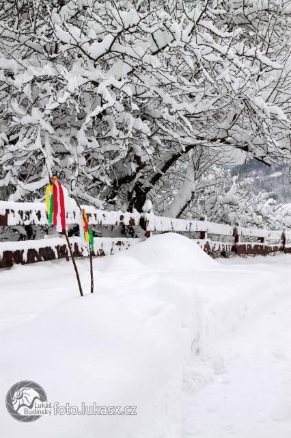 Velikonoce ve sněhu, pomlázky na sněhu. Autor: Lukáš Budínský (foto.lukasx.cz)