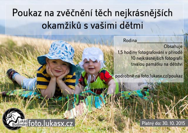 Poukaz rodinná a dětská fotografie, Lukáš Budínský (foto.lukasx.cz), ,
