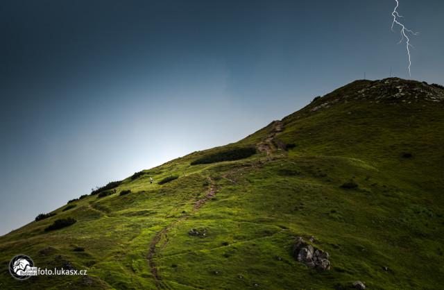 Blesk z bouřky Nízké Tatry, Fotograf Lukáš Budínský