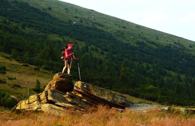 Fotograf Lukáš Budínský při výstupu na Kráľova Hoľa Nízké Tatry