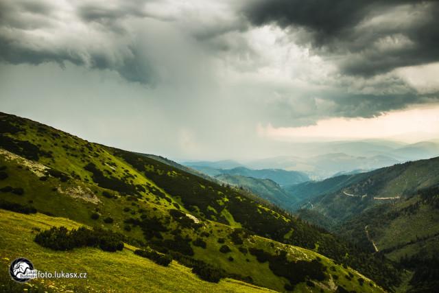 letní bouřka Nízké Tatry, Fotograf Lukáš Budínský