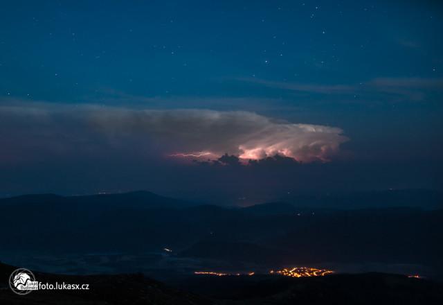 Bouřka s blesky na Kráľova Hoľa Nízké Tatry, Fotograf Lukáš Budínský